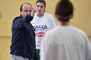 Andrea Capobianco<br /> Raduno Nazionale Italiana Femminile Senior - Allenamento<br /> FIP 2017<br /> Montegrotto Terme, 28/02/2017<br /> Foto Ciamillo - Castoria