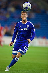 CARDIFF, WALES - Wednesday, August 17, 2016: Cardiff City's Anthony Pilkington in action against Blackburn Rovers during the Football League Championship match at Cardiff City Stadium. (Pic by David Rawcliffe/Propaganda)