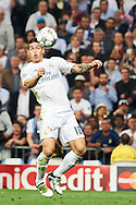 James Rodriguez (midfielder; Real Madrid) in action during the UEFA Champions League match between Real Madrid and Manchester City FC  at Santiago Bernabeu on May 4, 2016 in Madrid