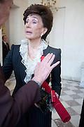 JACQUELINE DE RIBES;, Legion d'honneur awards. Elysee Palace, Presidence. Rue du Faubourg. 50 Rue de la Bienfaisance. Paris. 07 April 2010