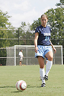 North Carolina's Julie Yates during pregame warmups on Sunday September 17th, 2006 at Koskinen Stadium on the campus of the Duke University in Durham, North Carolina. The University of North Carolina Tarheels defeated the University of Florida Gators 1-0 in an NCAA Division I Women's Soccer game.