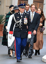 Tatiana Santo Domingo and Andrea Casiraghi The royal family of Monaco going to the St. Nicholas Cathedral for the beginning of the National Day festivities on November 19th 2019.