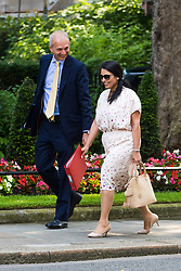London, June 20th 2017. Lord Chancellor and Secretary of State for Justice David Lidington and International Development Secretary Priti Patel attend the weekly cabinet meeting at 10 Downing Street in London.