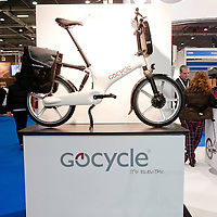 London, UK - 17 January 2013: Gocycle electrical bike at the London Bike show 2013 at the Excel.