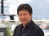 Director Hirokazu Koreeda at the After The Storm film photo call at the 69th Cannes Film Festival Wednesday 18th May 2016, Cannes, France. Photography: Doreen Kennedy