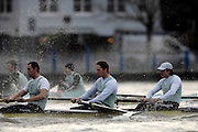 London. GREAT BRITAIN, 2007 Cambridge  University BC trial Eights,  Stay Calm left. Don WYPER, 7. Sebastian SCHULTE, Stroke. Kieran WEST.  during  the Trial Eights, between Putney and Chiswick  08.12.2006. [Photo, Peter Spurrier/Intersport-images]. Varsity:Boat Race, Rowing Course: River Thames, Championship course, Putney to Mortlake 4.25 Miles