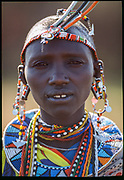 Maasai Woman Peacock, Maasai Mara, Kenya, July, 2002