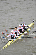 London, GREAT BRITAIN,  Leander II,  Pennant Winners, Elite LWT M4X, Fullers Fours Head of the River Race, Raced over the reverse Championship Course, Mortlake to Putney. Saturday  [Date}. [Mandatory Credit. Peter Spurrier/Intersport Images] Rowing Course: River Thames, Championship course, Putney to Mortlake 4.25 Miles,