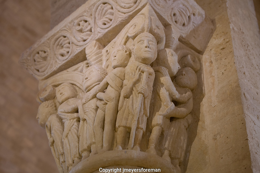 Romaneque Capital in the St. Martin de Tours de Frormista