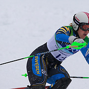 Winter Olympics, Vancouver, 2010.Anja Paerson, Sweden,  in action in the Alpine Skiing Ladies Slalom at Whistler Creekside, Whistler, during the Vancouver Winter Olympics. 24th February 2010. Photo Tim Clayton