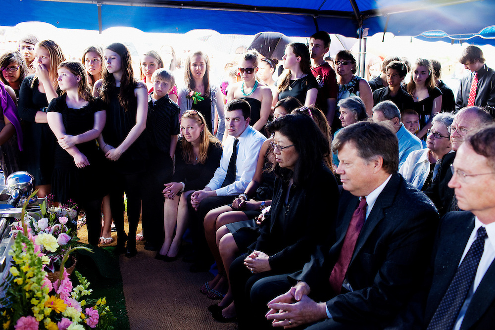 The funeral of Kelly Valentine, 13, at Catholic Church of St. Stephen Martyr in Chesapeake, Virginia on Tuesday, April 26, 2011. After the service, the family buried Kelly at Hollomon-Brown Funeral Home on Cedar Road. Valentine died after a tragic accident where she was hit by a car on Cedar Road while retrieving a dropped cell phone.