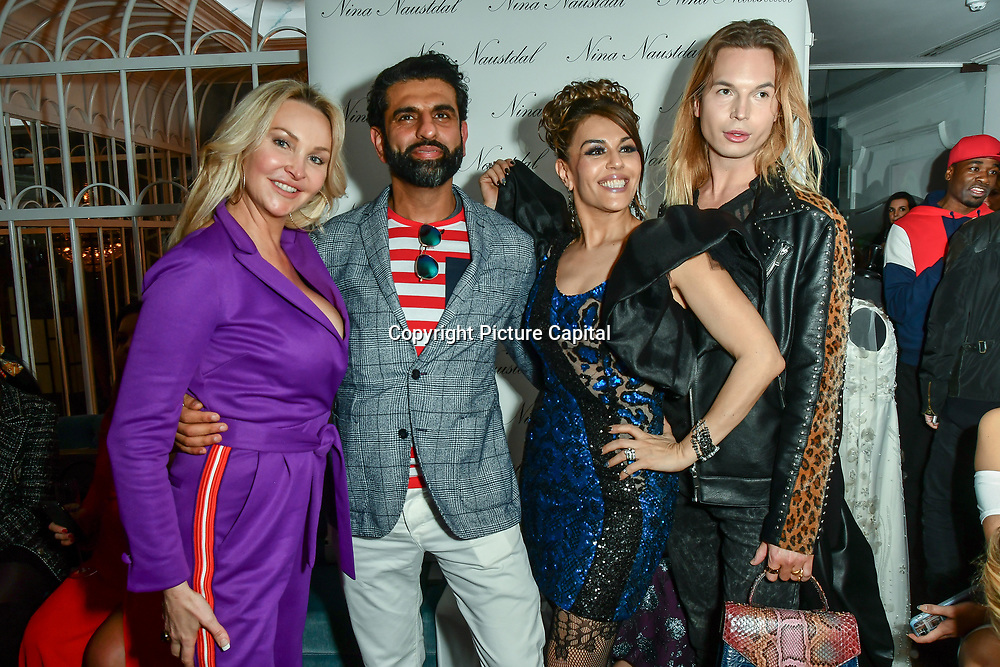Arrivers at Nina Naustdal catwalk show SS19/20 collection by The London School of Beauty & Make-up at Bagatelle on 26 Feb 2019, London, UK.