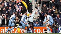 Photo: Paul Thomas.<br />Preston North End v Manchester City. The FA Cup. 18/02/2007.<br /><br />No slipping up on banana skins today for Man City as Georgios Samaras (C) runs off to celebrate his goal.