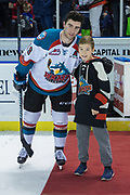 KELOWNA, CANADA - FEBRUARY 12:  First Star of the Game Dillon Dube #19 of the Kelowna Rockets at the Kelowna Rockets game on February 12, 2018 at Prospera Place in Kelowna, British Columbia, Canada.  (Photo By Cindy Rogers/Nyasa Photography,  *** Local Caption ***
