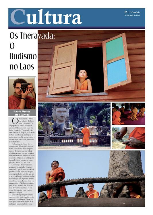 """Theravada: o Budismo no Laos"" in O Comercio"