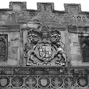 Salisbury, UK - Historic Crest - Black & White