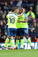 Aston Villa v Derby County - Sky Bet Championship<br /> BIRMINGHAM, ENGLAND - APRIL 28 :  Derby players celebrate after Cameron Jerome opened the scoring at Villa Park
