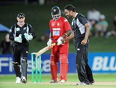 Napier-Cricket, New Zealand v Zimbabwe, 3rd one day
