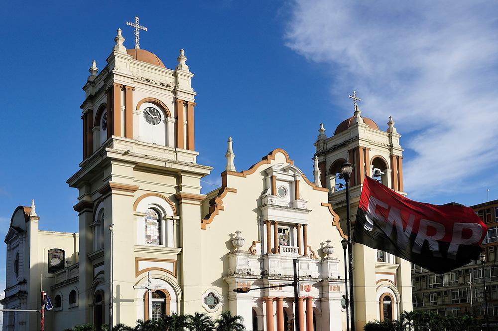 Catedral San Pedro Sula at Parque Central, Cathedral, San Pedro Sula, Central America, Honduras.