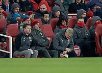 Football - 2017 / 2018 Premier League - Arsenal vs. Manchester City<br /> <br /> Arsenal Manager Arsene Wenger looks down at the floor in dejection at The Emirates.<br /> <br /> COLORSPORT/DANIEL BEARHAM