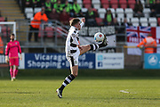 Forest Green Rovers Charlie Cooper(20) controls the ball during the Vanarama National League match between Dagenham and Redbridge and Forest Green Rovers at the London Borough of Barking and Dagenham Stadium, London, England on 11 March 2017. Photo by Shane Healey.