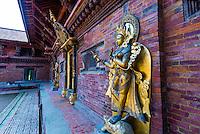 Mul Chowk, The Royal Palace, Durbar Square,  Patan (Lalitpur), Nepal.