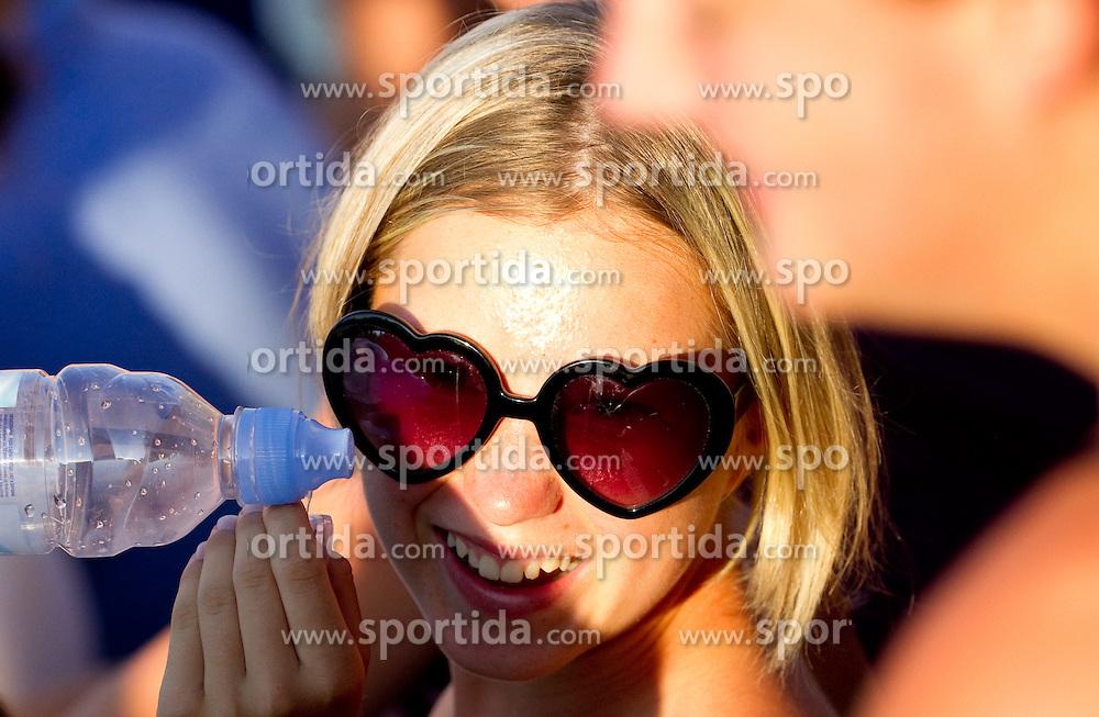 Spectator at Banka Koper Slovenia Open WTA Tour tennis tournament, on July 21, 2010 in Portoroz / Portorose, Slovenia. (Photo by Vid Ponikvar / Sportida)