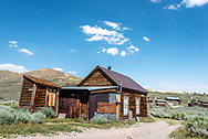 Abandoned house with lean-to shed at Bodie State Historic Park, an old California mining camp and boom town in the eastern Sierra. It's now a National Historic Landmark.