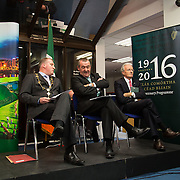 08/12/2015                <br /> Limerick City & County Council launches Ireland 2016 Centenary Programme<br /> <br /> An extensive programme of events across the seven programme strands of the Ireland 2016 Centenary Programme was launched at the Granary Library, Michael Street, Limerick, last night (Monday, 7 December 2015) by Cllr. Liam Galvin, Mayor of the City and County of Limerick.<br /> <br /> Led by Limerick City & County Council and under the guidance of the local 1916 Co-ordinator, the programme is the outcome of consultations with interested local groups, organisations and individuals who were invited to participate in the planning and implementation of events and initiatives during 2016.  <br /> <br />  Pictured at the event were, Mayor of Limerick, Cllr. Liam Galvin, Pat Dowling, Deputy CEO Limerick City and County Council and Michael O'Reilly, 2016 Office Dublin. Picture: Alan Place