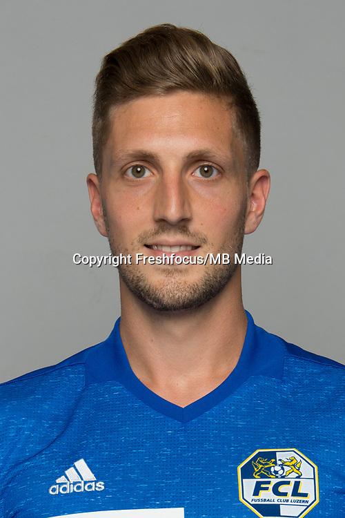 10.07.2017; Luzern; FUSSBALL SUPER LEAGUE - FC Luzern;<br /> Simon Grether (Luzern) <br /> (Martin Meienberger/freshfocus)