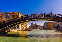 Ponte dell'Accademia (bridge) over the Grand Canal, Venice, Italy.