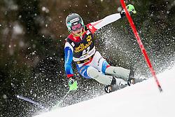 AERNI Luca of Switzerland competes during the 1st Run of 10th Men's Slalom - Pokal Vitranc 2013 of FIS Alpine Ski World Cup 2012/2013, on March 10, 2013 in Vitranc, Kranjska Gora, Slovenia. (Photo By Vid Ponikvar / Sportida.com)