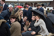 STUDENTS FROM BRISTOL UNIVERSITY, The Cheltenham Festival Ladies Day. Cheltenham Spa. 11 March 2015