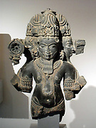 Brahma Sculpture from the 11th - 12th century. Gwalior,  India