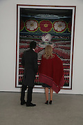 Michael Berger-Sandhofer and the Begum Agsa Khan, Andreas Gursky.White Cube, Mason's Yard. London. 22 March 2007.   -DO NOT ARCHIVE-© Copyright Photograph by Dafydd Jones. 248 Clapham Rd. London SW9 0PZ. Tel 0207 820 0771. www.dafjones.com.