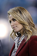 NFL Network sideline reporter Alex Flanagan does an on-field interview during the Jacksonville Jaguars NFL week 14 football game against the Houston Texans on Thursday, Dec. 5, 2013 in Jacksonville, Fla. The Jaguars won the game 27-20. ©Paul Anthony Spinelli