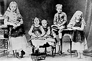 Children of the Sklodovski family. Left to right; Zosia, Hela Manya (Marie Curie 1867-1934), Joseph and Bronya