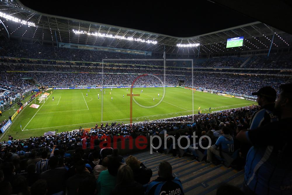 Arena do Grêmio durante o jogo disputado entre Grêmio e Cruzeiro, na Arena do Grêmio, em Porto Alegre, válido pela Copa do Brasil 2017. Foto: Richard Ducker/FramePhoto