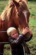 Boy with horse, Hawaii<br />