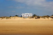 Small beach hotel on the coast at El Palmar, near Vejer de la Frontera, Cadiz Province, Spain