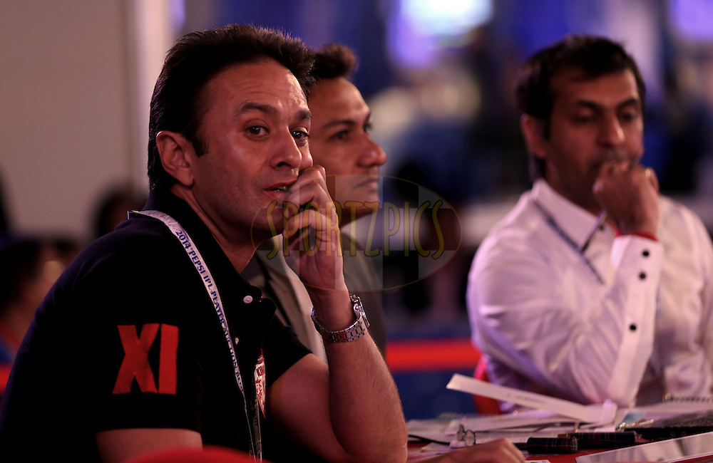 Ness Wadia  during the Pepsi IPL Player Auction held at the ITC Gardenia in Bengaluru, India on the 12th February 2014<br /> <br /> Photo by Sandeep Shetty/BCCI/SPORTZPICS