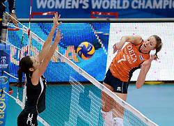 28-09-2014 ITA: World Championship Volleyball Mexico - Nederland, Verona<br /> Nederland wint met 3-0 van Mexico / Quinta Steenbergen