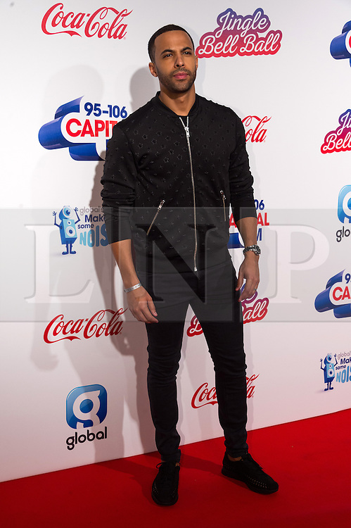 © Licensed to London News Pictures. 03/12/2016. MARVIN HUMES attends Capital's Jingle Bell Ball with Coca-Cola at London's O2 Arena London, UK. Photo credit: Ray Tang/LNP