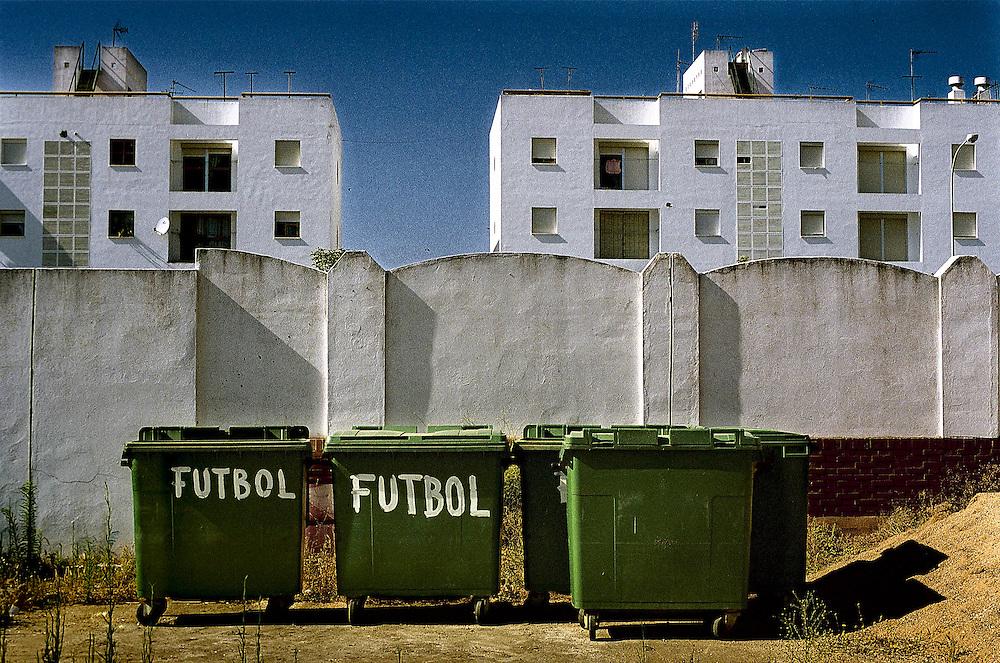 Cadiz, Andalucia, Spain.Outside the fottball fiel at Isla Cristina, Cadiz.©Carmen Secanella.