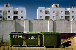 Cadiz, Andalucia, Spain.Outside the fottball fiel at Isla Cristina, Cadiz.©Carmen Secanella.