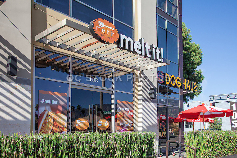 Melt it and Dog Haus Restaurants on N. Hill Avenue in Pasadena California