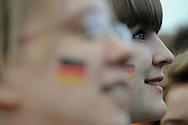 Germany vs Australia.Fan at Fan Park Hamburg,