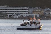 The fishingboat Starbeam outside Fosnavåg, Norway   Fiskebåten Starbeam utenfor Thon Hotel Fosnavåg.