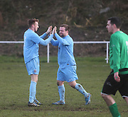 Fairfield goal celebration during their last 16 Scottish Cup clash with Cleland - Dundee Sunday Amateur Football<br /> <br />  - &copy; David Young - www.davidyoungphoto.co.uk - email: davidyoungphoto@gmail.com