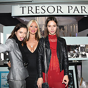 Caprice Bourret , Bloom Twins arrives at Tresor Paris In2ruders - launch at Tresor Paris, 7 Greville Street, Hatton Garden, London, UK 13th September 2018.